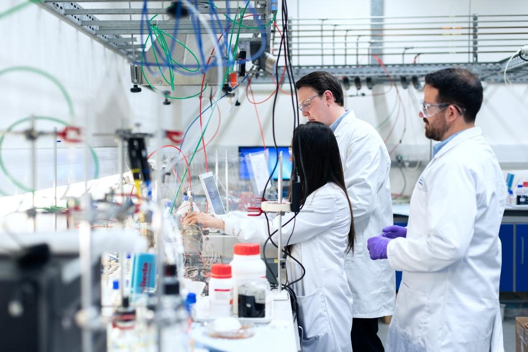 Scientists Working hard